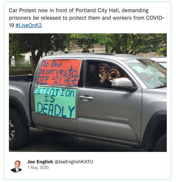 Tweet Drive By Protests - ACLU National