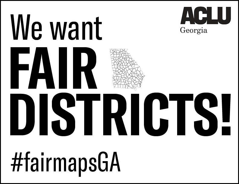redistricting sign graphic