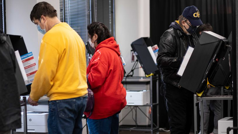 People voting in Cobb County.